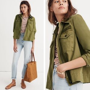 Madewell Army Swing Jacket Olive Denim